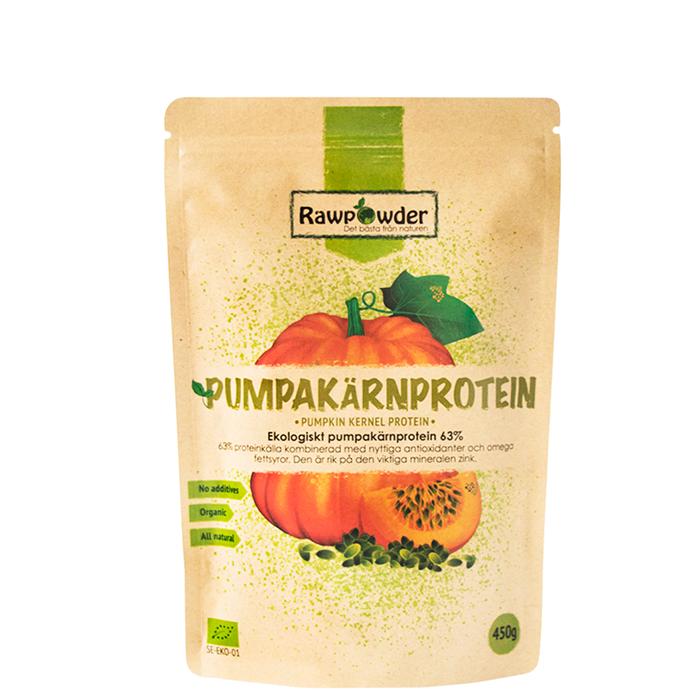 Pumpakärnprotein 63% Eko, 450 g